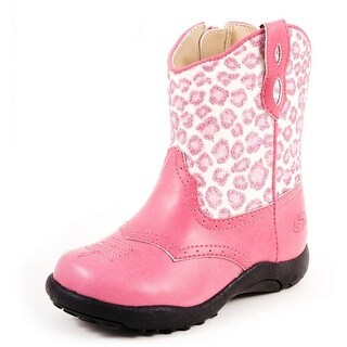 Roper Western Boots Girls Kids Cheetah Child Pink