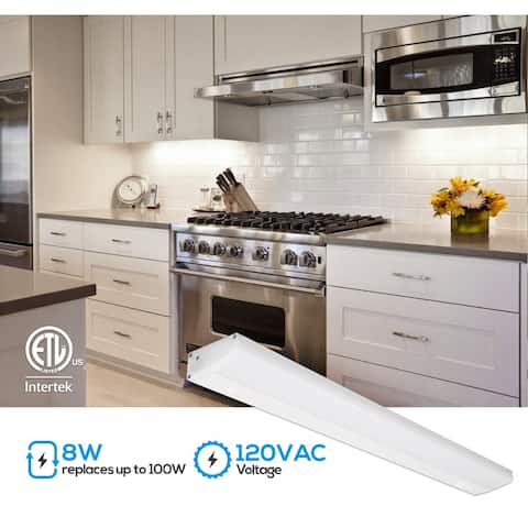 """4 Pcs 16"""" LED Under Cabinet Lighting with Individual Switch, 4000K Cool White"""