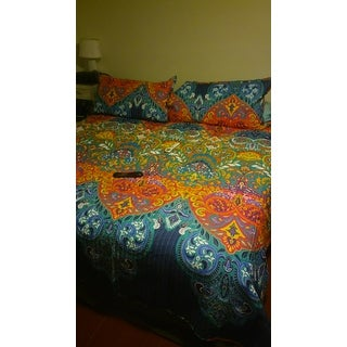 The Curated Nomad La Boheme Boho Chic 3-piece Quilt Set
