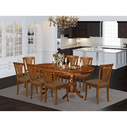 Dining set-Dining Table with 8 Chairs for Dining room (Finish Option)