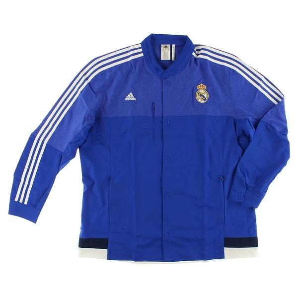 386b412c6 Shop Adidas Mens Real Madrid Anthem Jacket Royal Blue Royal Blue