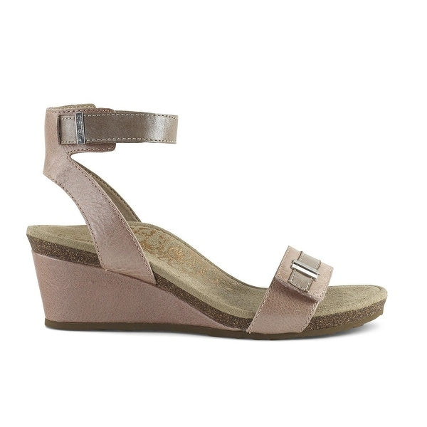 5c233f6c20c Shop Aetrex Womens Rose Ankle Strape Open Toe Casual Ankle Strap Sandals -  10 - Free Shipping Today - Overstock.com - 27195831