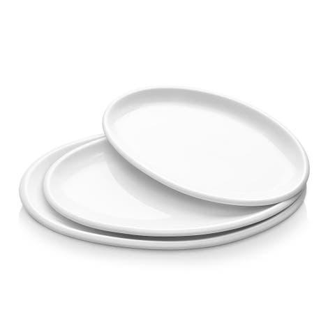 DOWAN Porcelain 3 Piece Dinner Plate Set