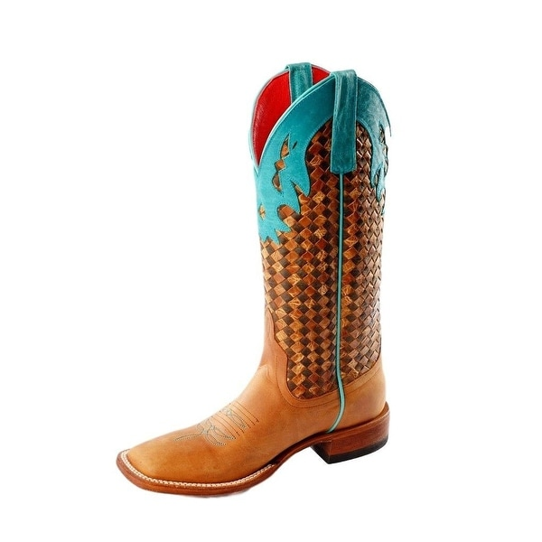 Macie Bean Western Boots Womens Funky Flounder Honey Crazy Horse