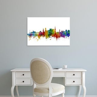 Easy Art Prints Michael Tompsett's 'Bournemouth England Skyline' Premium Canvas Art
