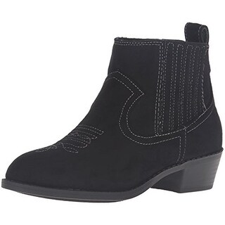 Dolce Vita Girls Gavin Booties Embroidered Microsuede