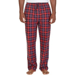 Nautica Mens Lounge Pants Fleece Plaid