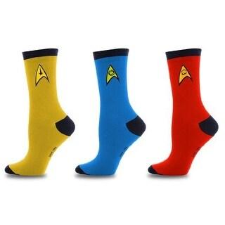 Star Trek Uniform Socks -- Command - Science - Engineering -- Set Of 3 Pairs