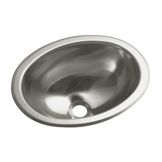 "Sterling 11811-0 13-1/4"" Stainless Steel Drop In or Undermount Bathroom Sink"