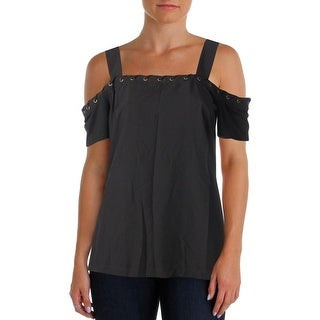 Love Scarlett Womens Blouse Woven Mixed Media - m