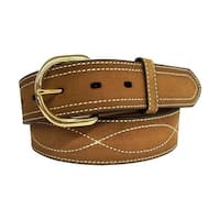 G-Bar-D Western Belt Mens Harness Buckle Lati Stitch Rust