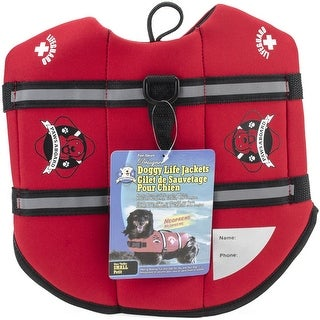Fido Pet Products Paws Aboard Neoprene Doggy Life Jacket, Small, Red