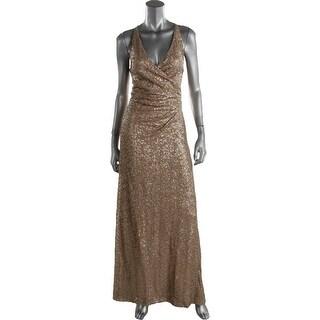 Lauren Ralph Lauren Womens Summer Sequined Prom Evening Dress - 10