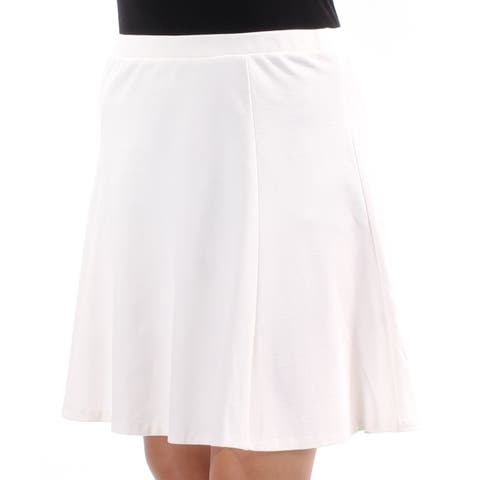BAR III Womens White Above The Knee Circle Skirt Size: M