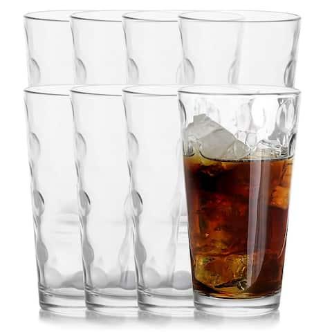 Pasabahce Space 8-Piece 16.75 oz Cooler Glass Set