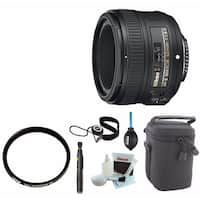 Nikon AF-S NIKKOR 50mm f/1.8G Lens with Tiffen 58mm Filter and Accessory Bundle