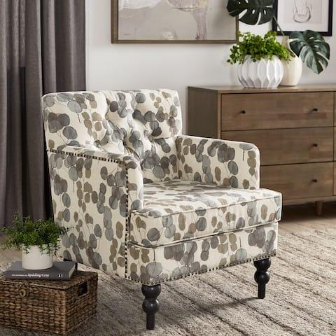 Tabitha Fabric Tufted Club Chair by iNSPIRE Q Modern