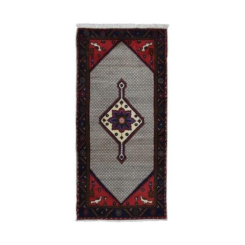 "Shahbanu Rugs New Persian Serab Runner Pure Wool Hand Knotted Oriental Rug (3'1"" x 6'7"") - 3'1"" x 6'7"""
