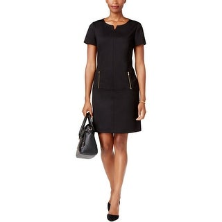 Tahari ASL Womens Wear to Work Dress Zipper-Pockets Knee-Length