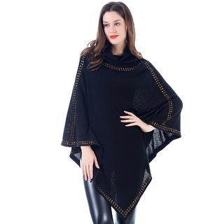 Mad Style Studded Cowl Neck Poncho