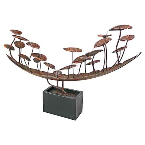 Design Toscano Grande Asian Botanical Cascading Metal Fountain
