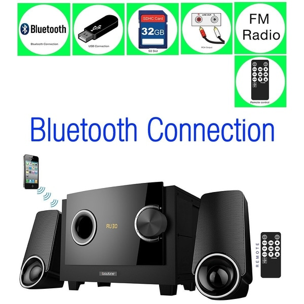 Boytone BT-3129F - Limited Edition Multimedia, Bluetooth Audio Powerful Speakers System, FM Radio + USB/SD, 40w, Home Audio