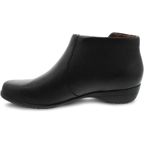 Dansko Womens Fifi Leather Almond Toe Ankle Fashion Boots
