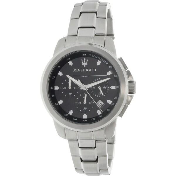 Maserati Men's Successo Silver Metal Quartz Fashion Watch
