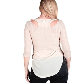 Women's Plus Size Layered Dressy Top Shirt Blouse, Made in USA, Mint, Beige, Pink, XL-XXL-XXXL