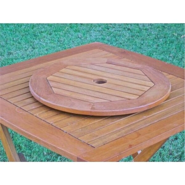 Round Lazy Susan With Umbrella Hole Free Shipping Today 26943803