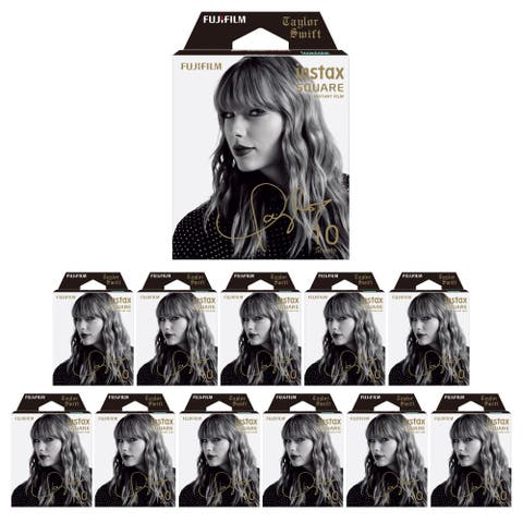 Fujifilm Instax Square Film Taylor Swift Edition (12 Pack) - 86mm x 72mm