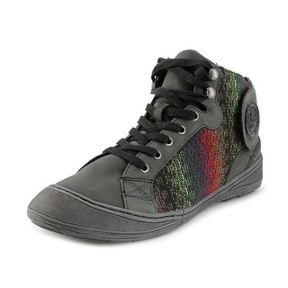 OTBT Providence Women Round Toe Leather Black Sneakers