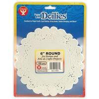 (6 Pk) Doilies 6 White Round 100 Per Pk