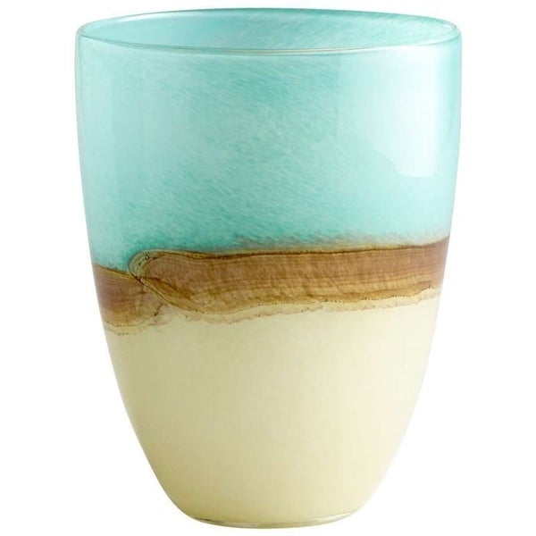 "Cyan Design 5873 9.25"" Medium Turquoise Earth Vase"