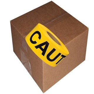 """Barricade Tape Caution Yellow 3"""" x 300 ft Non Adhesive 3 mil 16 Roll Case"""