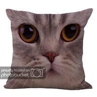 ChezMax Linen Blend Animal Print Cushion Cotton Square Decorative Throw Pillow 18 X 18''