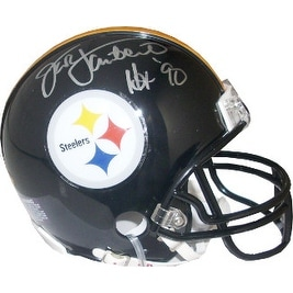 610109d8824 Shop Jack Lambert signed Pittsburgh Steelers Replica Mini Helmet Black Mask HOF  90 silver sig Lambert Ho - Free Shipping Today - Overstock - 19872937