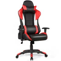 Costway Ergonomic High Back Racing Style Gaming Chair Recliner Executive Office Computer - Red