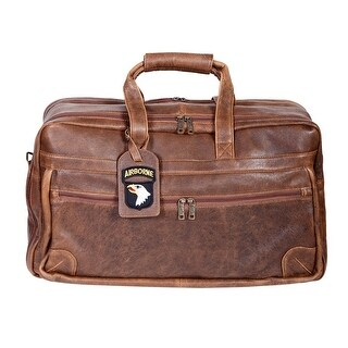 Scully Western Duffle Bag Aerosquadron Leather Zipper Walnut