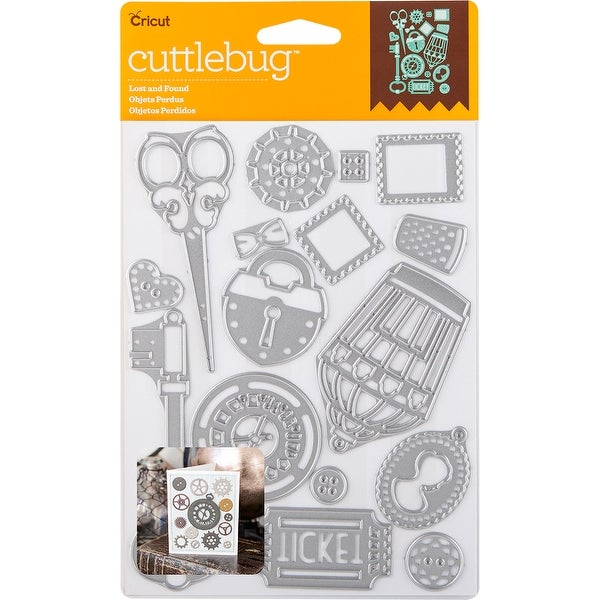 Cuttlebug Cut & Emboss Die-Lost And Found, 16/Pkg