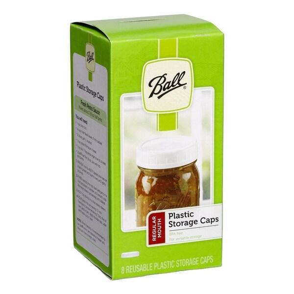 Ball 1440036010 Regular Mouth Jar Storage Caps, Plastic