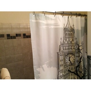Carnation Home Fashions 'Big Ben' Fabric Shower Curtain