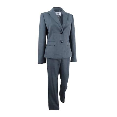 Le Suit Women's Tonal-Pinstripe Pantsuit - Storm