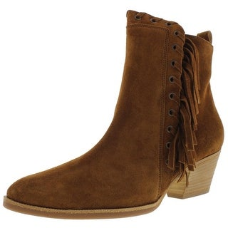 Paul Green Womens West Ankle Boots Suede Fringe