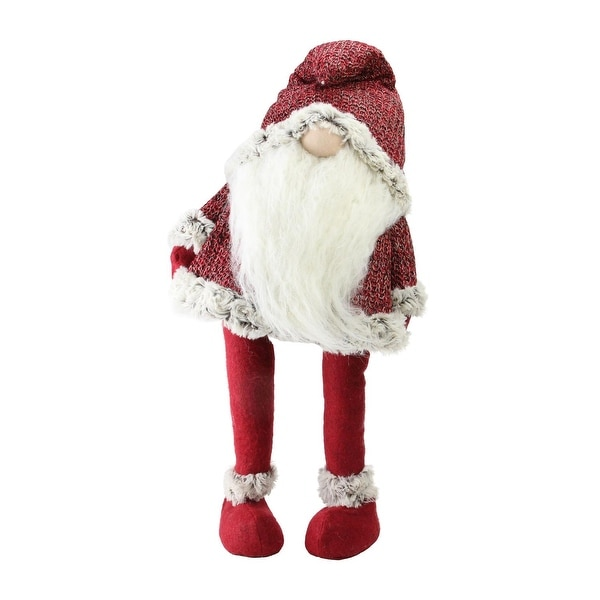 "25.25"" Lets Bounce Decorative Ruby Red and White Santa Claus Christmas Gnome"