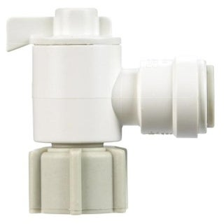 "Watts P-677 Quick-Connect Angle Shut-Off Valve 3/8"" X 1/2"""