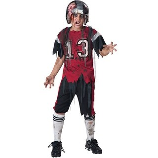 Boys Football Zombie Horror Sports Halloween Costume (4 options available)