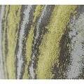 "G Home Collection Luxury Lemon Yellow Mix Color Stripe Pattern Metallic Chenille Pillow 14""X20"" - Thumbnail 3"