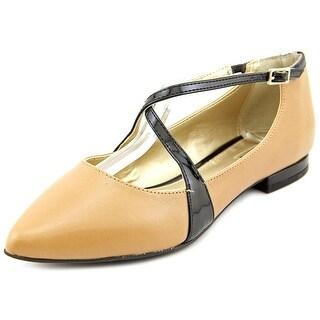 Alfani Zestiez Women Pointed Toe Synthetic Tan Mary Janes