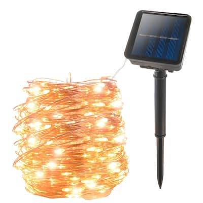 200 LED Solar Powered Copper Wire String Led Strip Fairy Garland Outdoor Light